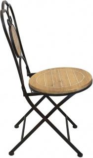 Gartenstuhl aus Metall & Holz im Antik Design, Balkon Klapp Stuhl - Vorschau 4