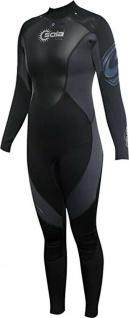 SOLA Ignite 3mm Damen Neoprennzug schwarz, Gr. 38, Tauch Schwimm Surf Anzug
