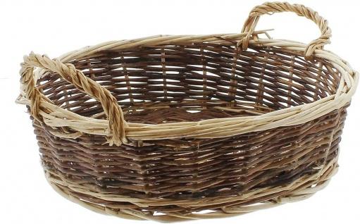 Obst Korb aus Weide, groß, Ø 30 cm, Brot Gebäck Flecht Brötchen Körbchen Schale