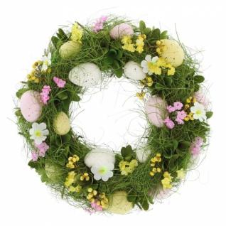 Osterkranz Frühlingswiese Ø 32 cm Deko Kranz Ostern Blumen Kerzen Halter Ständer - Vorschau 2