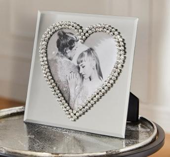 """Bilder Foto Rahmen """" Love"""" 21x21 cm Glas mit Herzform edel für Liebe & Hochzeit"""