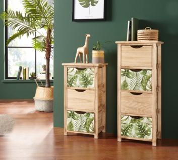 Kommode 'Leaves? groß aus Holz mit S?hubladen Schrank Sideboard Regal
