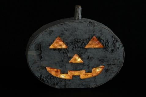 LED Kürbis 'Birkenrinde? Halloween Gruselkürbis Tisch Licht Leucht Deko - Vorschau 5