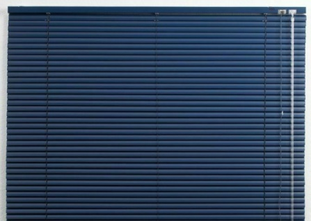 Alu Jalousie blau, 100x250 cm, Jalousette Verdunkelungs Rollo Vorhang Jalousie