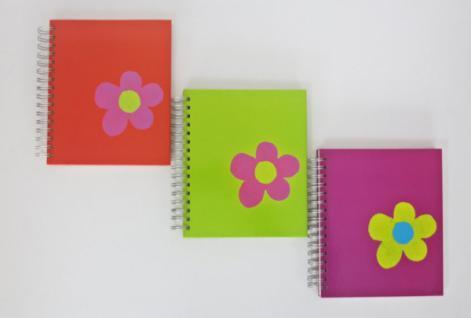 """6x FOTOALBUM """" Flower"""" bunt für 96 FOTOS 10x15 SPIRAL EINSTECK FOTO ALBUM ALBEN"""