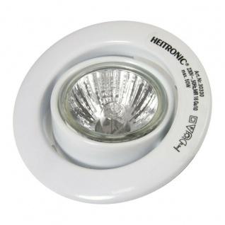 3 er Set Heitronic Einbau Strahler weiß, GU10 50W Halogen Lampen Strahler Spot
