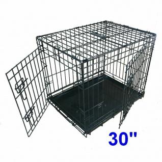 Ellie-Bo Metall Käfig für Welpen & Hunde Transport Zimmer Box Gr. L 91cm schwarz