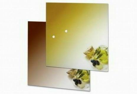 "Design Glas Magnet Tafel "" Olive"" braun, 35x35 cm, Pinn Wand Memo Board"