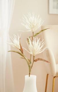"""große Kunst Blume """" Weiße Blüten"""", 105 cm lang, Deko Zweig Textil künstlich"""