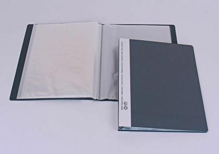20x Biella Sicht Buch grau, mit 30 A4 Sicht Hüllen für 60 Blatt, Prospekt Mappe