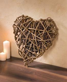 dekoherz rebenholz reisig natur deko 40cm herz. Black Bedroom Furniture Sets. Home Design Ideas