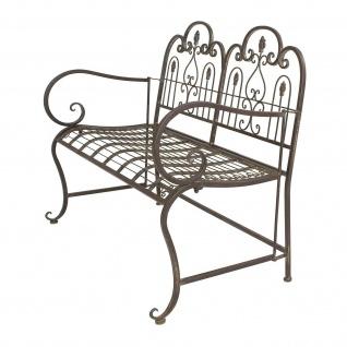 "Sitzbank "" Provence"" aus Metall, braun im Antik Design, Gartenbank, Parkbank - Vorschau 4"