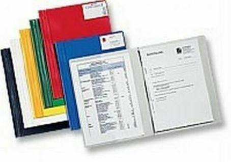 50x Hetzel Conference Schnell Hefter grün A4 überbreit Kunststoff Sicht Schul