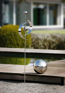 Deko Kugel 'spiegelglanz? Silber Aus Metall Ø 19 Cm Garten Terrasse Rosen - Vorschau 1