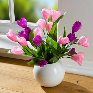 Krokus Bouquet lila & rosa 36 cm hoch, Kunst Blumen Strauss, künstliche Pflanzen