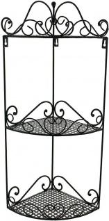 """Eckregal """" Ranken"""" aus Metall, schwarz, 3 Ebenen, Hänge Wand Stand Eck Regal - Vorschau 2"""