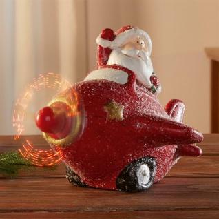 Lustige LED Santa Claus Figur Weihnachts Mann XMAS Deko batteriebetrieben