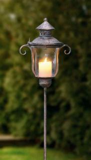 Stab Laterne aus Metall, Antik Design 118 cm hoch Windlicht Garten Deko Sticker