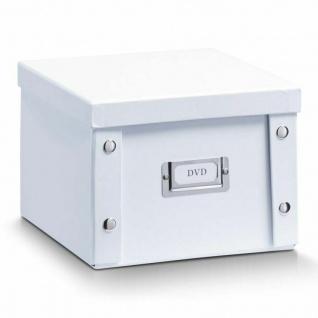 2x ZELLER DVD BOX mit DECKEL weiß für 26 DVD's AUFBEWAHRUNG KISTE KARTON CASE