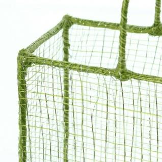 2er Set Geschenk Tasche grün / silber aus Sisal & Metall Korb Tüte Beutel - Vorschau 4
