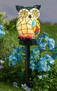 "Solar Leuchte "" Eule"" Garten Weg Beleuchtung Lampe Laterne Tier Deko Figur"