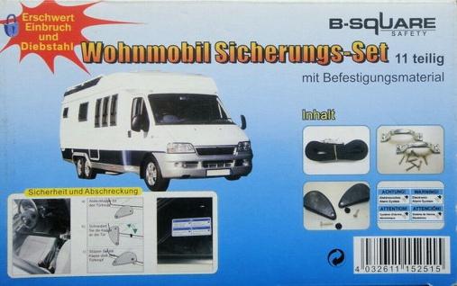 11 tlg. Wohnmobil Einbruch Schutz Set, Wohnwagen Camper Bus Diebstahl Sicherung