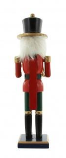 """Nussknacker """" Trommler"""" aus Holz, rot, 36 cm, Advents Weihnachts Deko Figur - Vorschau 4"""