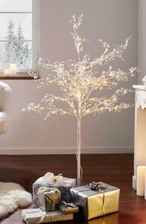 """Lichterbaum """" Silberglanz"""" 120 LED für Innen & Aussen Leucht Deko Baum"""