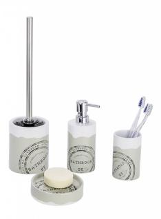 4tlg Wenko Bad Set Bathroom Aus Keramik Wc Garnitur Seifenspender  Zahnputzbecher
