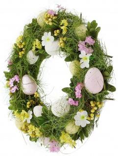 Frühlings Osterkranz Ø 32 cm Deko Kranz Oster Eier Blumen Kerzen Halter Ständer - Vorschau 3