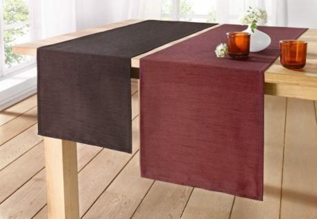 TischlÄufer Klassik Schokobraun 40x150 Polyester Tischdeko Tischdecke Tischband - Vorschau