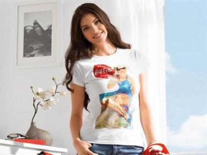 2x Damen T-Shirt Coca Cola weiß Gr. S 100% BW Retro Shirt Doppelpack