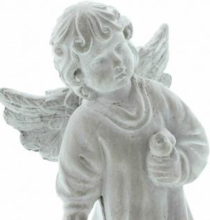"""Engel Figur """" Vogelfreund"""" 19x9x20 cm Grab Schmuck Christlich Heaven Tisch Deko - Vorschau 3"""