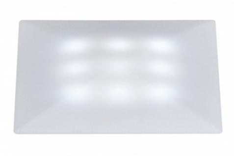 PAULMANN BODEN EINBAULEUCHTEN 3er SET QUADRO SATIN 3x1W LED INNEN + AUßEN