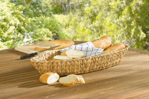 Baguette Schale aus Wasserhyazinthe 56x19 cm, Obst Gebäck Brot Deko Servier Korb