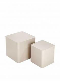 2er Set BRAID CONCEPT Design Beistell Tisch, elfenbein, Konsole Sockel Blumen