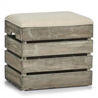 Zeller Sitz Truhe aus Holz, Stauraum für 12 Flaschen, Flur Schuh Bank Kiste Box