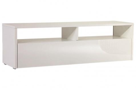 SODANI TV Lowboard hochglanz weiß 139x41x44 cm Fernseh Medien Unterschrank Möbel