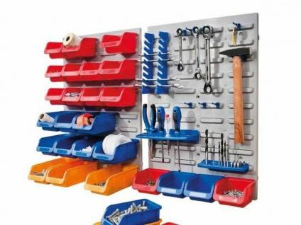 16 Sicht Lager Boxen blau, mittel, Kleinteile Stapel Sortier Kasten Box Magazin