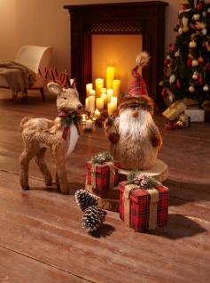 Nikolaus 'Weihnachten? Weihnachtsmann Weihnachtsdeko Deko Figur Santa Textil