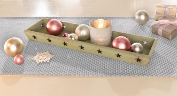 Tablett 'Sternenhimmel? Holz Kerzen Halter Teelicht Board Tisch Weihnachten