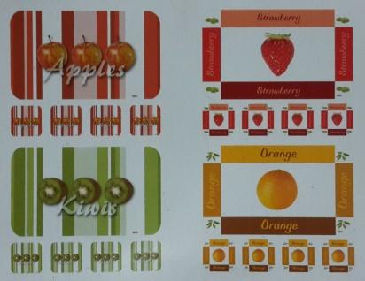 """40x Platzset + 40 Untersetzer """" Fruits"""" Tischset abwaschbar Platz Deckchen Matte"""