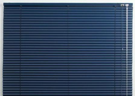 Alu Jalousie blau, 125x175 cm, Jalousette Verdunkelungs Rollo Vorhang Jalousie #