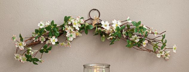 """Blumen Gesteck """" Kirschblüte"""" 66 cm lang, Hänge Kunst Blüten Deko Wand Tür Unecht"""