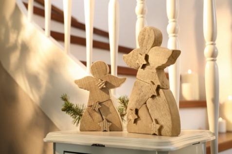 Engel 'Sternchen? Holz Deko Statue Skulptur Weihnachten Weihnachtsdeko