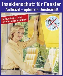5x WENKO Fliegen Gitter schwarz, 100x100 cm, Fenster Insekten Mücken Schutz Netz