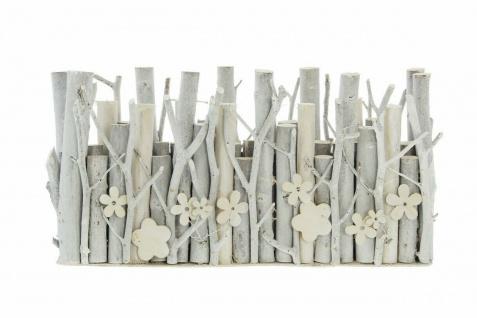 """Vase ?Holzblume"""" Deko Tisch Blumen Glas Vasen Flasche + Holz Blume Ast - Vorschau 2"""
