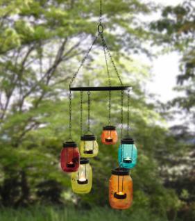 Windlicht-hÄnger 'coloured Glasses' Laterne Teelichthalter Glas Ethno Look Neu - Vorschau 1