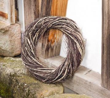 großer Deko Kranz aus Reisig, Ø45 cm, braun, Natur Holz Türkranz Wandkranz