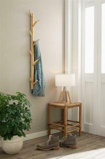 """Flur Wand Garderobe """" Bambus"""" mit 11 Haken Vintage Natur Massiv Holz Leiste braun - Vorschau 5"""